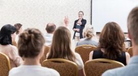 Image of people attending a seminar on life limiting illness